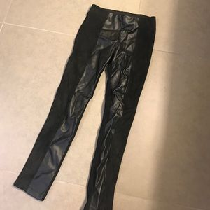 """Pants - """"Leather"""" and suede leggings"""
