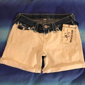 True Religion Pants - True Religion Bleached Acid Short Size 26