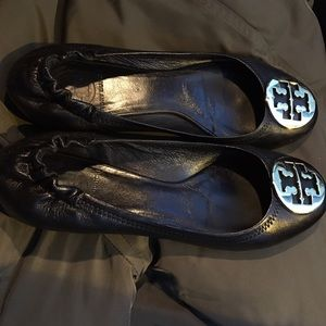 Tory Burch Shoes - Gold and Black Tory Butch Flats