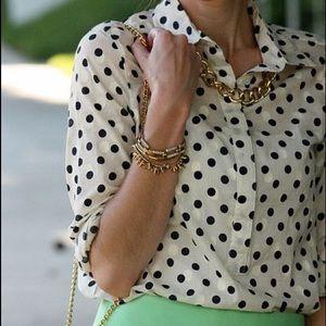 J. Crew polka dot blouse
