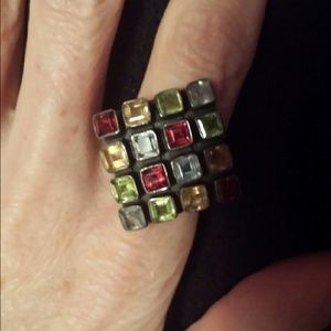 Jewelry - Gemstone Square Ring Sterling Silver Jewelry