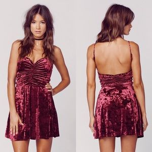 Blue Life Dresses & Skirts - NWT Wine Red Velvet Mini Dress💋❤️💋OFFERS WELCOME