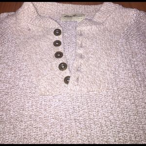 Eddie Bauer Other - Eddie Bauer thick button neck sweater