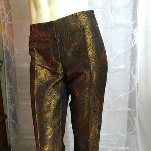 Les Copains Pants - LES COPAINS Brocade Pants/ ONE HOUR SALE