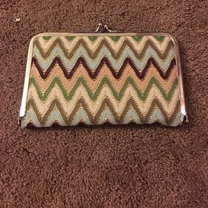 Charming Charlie Handbags - Sparkle Chevron wallet