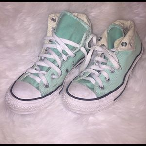 Converse Shoes - Mint High Top Converse