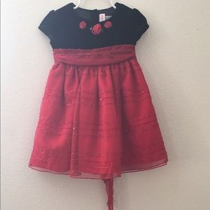 Sweet Heart Rose Other - Toddler girls black and red party dress