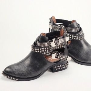 Jeffrey Campbell Shoes - Jeffrey Campbell Spiked Studded Everly Ankle Boots