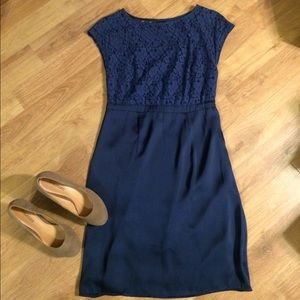 NWOT Navy/Black Dress with Lace