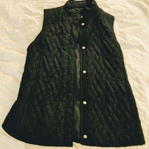 croft & barrow Jackets & Blazers - Black Quilted Vest