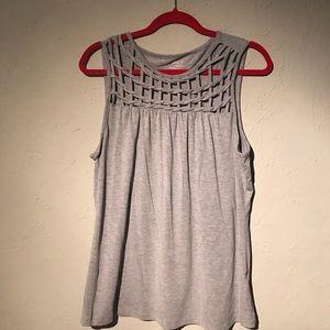 Grace Tops - Gray sleeveless top.