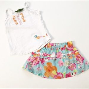 Oilily Other - Oilily Floral skirt with coordinating tank top