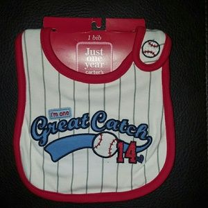Carter's Other - NWT Carter's I'm One Great Catch Baseball Bib