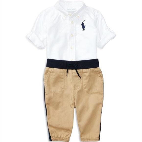 b87264847 Ralph Lauren Matching Sets | Polo Infant Boys Oxford Shirt Twill ...