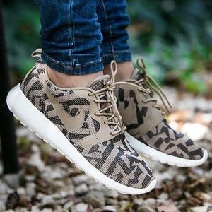 Nike Shoes - Nike Roshe One Desert Camo Jacquard Sneakers
