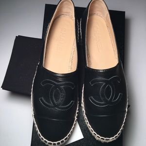 CHANEL Shoes - BNIB 2017 Chanel Espadrilles in Black Lambskin