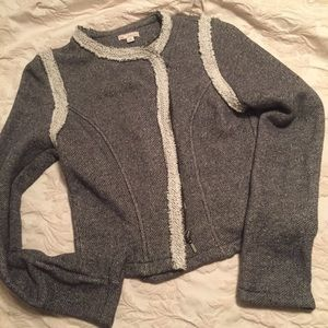 Chic Gap jacket jersey cotton heather grey casual