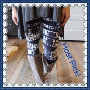 Infinity Raine Pants - Blue/Navy Tye Dye Leggings 🛍🛍🛍