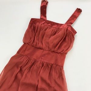 Laundry by Shelli Segal Dresses & Skirts - Laundry By Shelli Segal Silk Rust Color Dress NWT