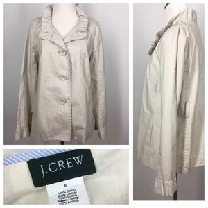 J. Crew Jackets & Blazers - J CREW Blazer Jacket Puffer Collar Button Up 6