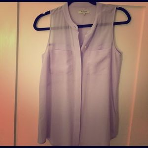 Madewell Light purple silk tank