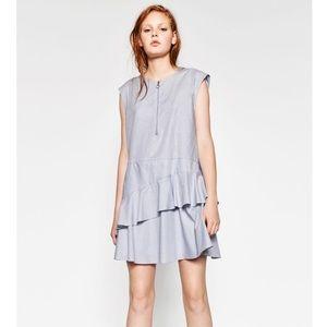 Zara Dress With Frilled Skirt