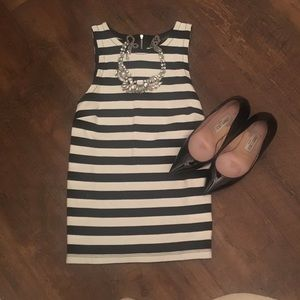 Banana Republic  Striped tank b&w