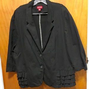 Elle Jackets & Blazers - Black Elle cotton, ruffle jacket