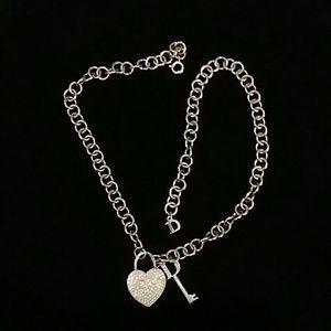 Dior Heart Lock & Key Necklace