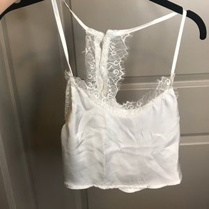 Tops - Silky cropped top