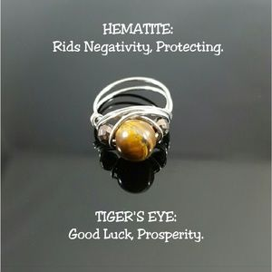 DGwiring Jewelry - 🎉SALE🎉 Tiger's Eye & Hematite Ring Any Size
