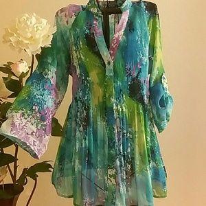 Sunny Leigh Tops - Sunny leigh , Multicolor blouse