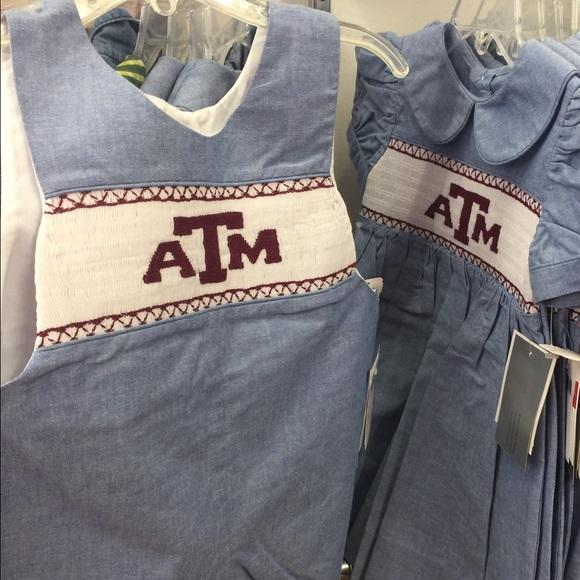 2b3020f78fd Smocked Texas A M Aggie Baby