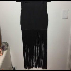 dollskill Dresses & Skirts - Gold label  black mini skirt with fringe