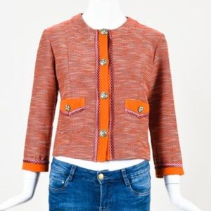 Etro Jackets & Blazers - Etro Orange Purple Multicolor Tweed jacket