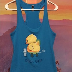 Next Level Tops - Duck off tank top NEW funny shirt
