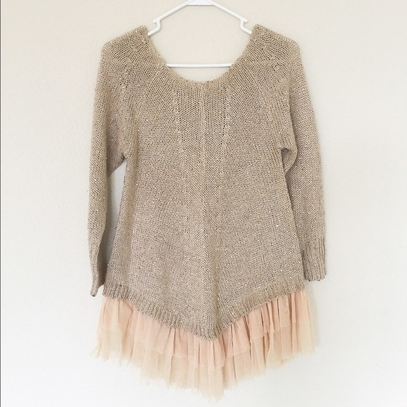 Sweaters - 🎉Sale🎉Beautiful sequins lace sweater
