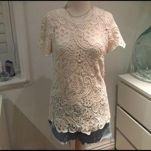Zara lace crochet top