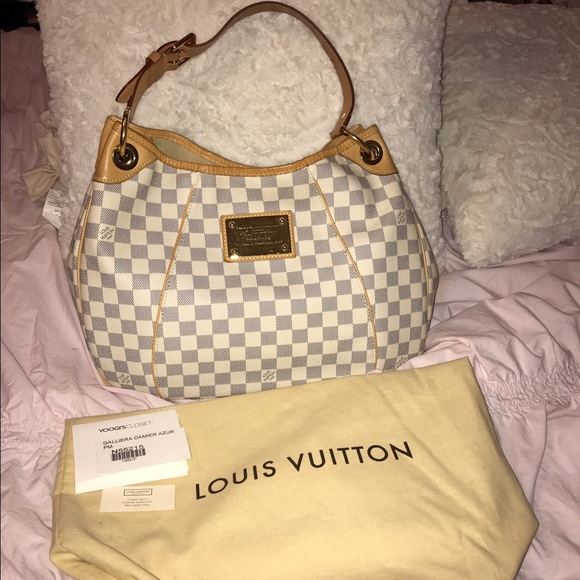 7b9c20d6b6fe Louis Vuitton Handbags - Louis Vuitton Galliera Damier Azur PM