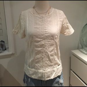 Zara embroidered lace top