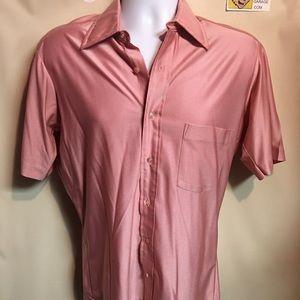 Sears Other - Vintage Sears Shiny Pink Nylon Polo Shirt