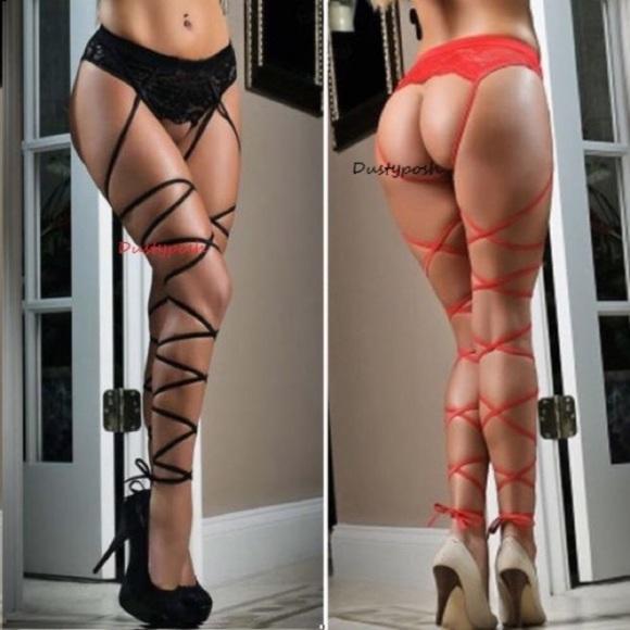 1a252b1e1 Lace Top Thigh High Suspender Garter Belt Stocking