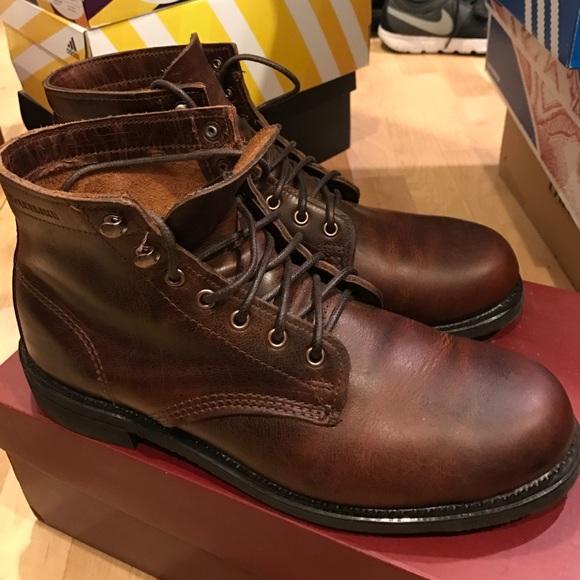 0b00070f258 Wolverine 1883 Kilometer Boots Men sz 8 Brown