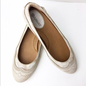 Ariat Shoes - Ariat Natural Leather Ballet Flat weathered white
