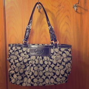 Coach Handbags - Coach Black Signature Bag