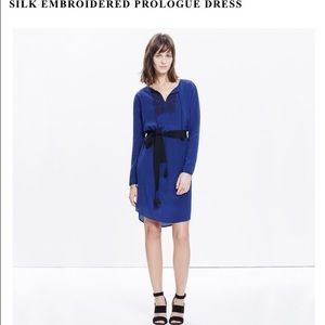 Silk embroidered prologue dress from Madewell