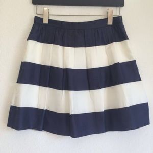 J. Crew navy/white stripe silk skirt-spring update