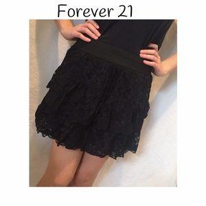 Forever 21 Other - 🍭 Forever 21 black lace mini skirt
