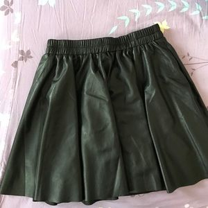 New leather-like skirt