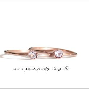 nejd Jewelry - ❗️sale❗️Rose Gold & Lavender CZ Stacking Ring